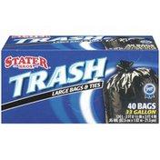 Stater Bros Large 33 Gal Trash Bags