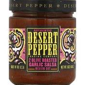Desert Pepper Salsa, 2 Olive Roasted Garlic, Medium Hot