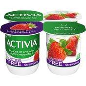 Activia Lactose-Free Probiotic Strawberry Yogurt