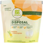 GG Grab Green Grab Green Garbage Disposal Fresehner & Cleaner Pods Tangerine With Lemongrass