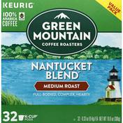 Green Mountain Coffee, 100% Arabica, Medium Roast, Nantucket Blend, K-Cup Pods, Value Pack