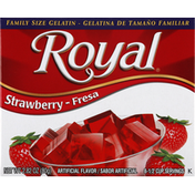 Royal Gelatin, Strawberry, Family Size