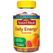 Nature Made Daily Energy‡ Gummies with Vitamin A, C, D3, B12, Biotin, Zinc - Berry Burst & Orange Zing