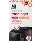 Food Lion Trash Bags, Drawstring, Flextra-Strength
