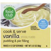 Food Club Vanilla Cook & Serve Pudding & Pie Filling