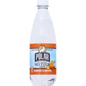 Polar Seltzer, 100% Natural, Cranberry Clementine