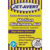 Jet-Avert Motion Sickness Aid, 25 mg, Tablets