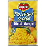 Del Monte Mangos, No Sugar Added, Diced