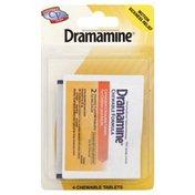 Dramamine Motion Sickness Relief, Chewable Tablets, Orange Flavor