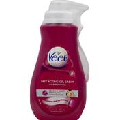 Veet Hair Remover, Legs & Body,  Fast Acting Gel Cream, Essential Oils and Velvet Rose Scent