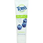 Tom's of Maine Toothpaste, Fluoride, Wild Blueberry, Children's