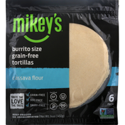 Mikey's Tortillas, Grain Free, Burrito Size, 8 Pack
