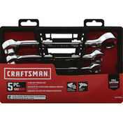 Craftsman Wrench Set, Flare Nut, Sae, 5 Piece