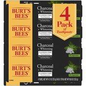 Burt's Bees Toothpaste, Fluoride Free, Charcoal, Zen Peppermint