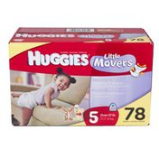 Huggies LITTLE MOVERS Diapers Step 5 Hi Count Junior 78
