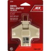 Ace Wall Adapter, Ivory, Swivel, Polarized