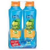 Sauve Kids Kids 3-in-1 Apple Detangler Shampoo, Conditioner & Body Wash 22.5 oz, Twin