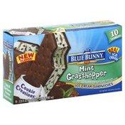 Blue Bunny Ice Cream Sandwiches, Mint Grasshopper