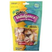 Dingo Treat for Dogs, Mini Bone, Indulgence, Artificial Peanut Butter Flavor