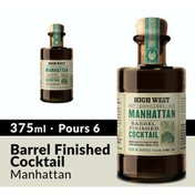 High West Manhattan Barrel Finished Ready Made Cocktail Whiskey