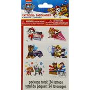 Unique Tattoos, Paw Patrol, 4 Sheets