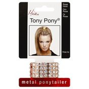 Mia Ponytailer, Metal, Rose Gold