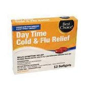 Best Choice Day Time Cold & Flu Multi-Symptom Relief Softgels