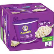 Annie's White Cheddar Macaroni & Cheese, Microwaveable Mac & Cheese,  8 Count