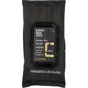Every Man Jack Facial Wipes, Volcanic Clay, Skin, Oil Defense