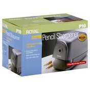 Royal Pencil Sharpener, Electric, Silver Ice