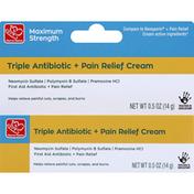 Harris Teeter Triple Antibiotic + Pain Relief Cream, Maximum Strength
