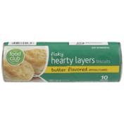 Food Club Butter Flavored Flaky Hearty Layers Biscuits