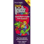 Natrol Liquid Multivitamin, with Vitamin D, Tropical Berry