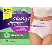 Always Discreet Underwear L