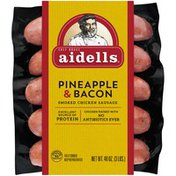 Aidells Smoked Chicken Sausage, Pineapple & Bacon, 3 lb. (15 Fully Cooked Links