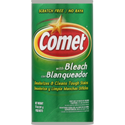 Comet Cleanser, With Bleach, Scratch Free