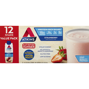 Atkins Protein-Rich Shake, Strawberry, Value Pack