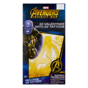 Marvel Avengers Valentines with Tattoos