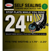 Bell Bicycle Tube, Standard Valve, Self Sealing, 24 Inches