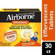 Airborne® Zesty Orange Effervescent Tablets - 1000mg of Vitamin C - Immune Support Supplement