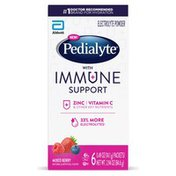 Pedialyte with Immune Support Electrolyte Powder Mixed Berry