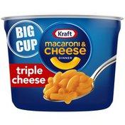 Kraft Triple Cheese Macaroni & Cheese Easy Microwavable Big Cup Dinner