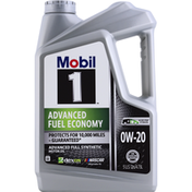 Mobil Motor Oil, Advanced Fuel Synthetic, Advanced Fuel Economy, OW-20
