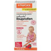 TopCare Infants' Ibuprofen 50 Mg Per 1.25 Ml Pain Reliever/Fever Reducer (Nsaid) Oral Suspension Concentrated Drops, Berry