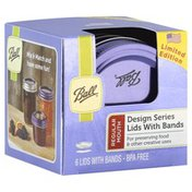 Ball Lids with Bands, Design Series, Box