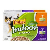 Friskies Purina Friskies Indoor In Gravy Chunky Chicken & Turkey Casserole and Homestyle Turkey Dinner Cat Food - 12 CT