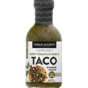Urban Accents Simmer Sauce, Taco, Tangy Tomatillo Garlic, Medium