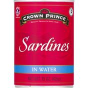 Crown Prince Sardines, in Water, Wild Caught