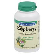 Nature's Answer Red Raspberry Leaf, Vegetarian Capsules