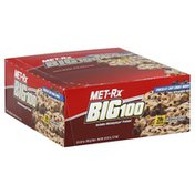 Met-Rx Big 100, Meal Replacement Bar, Chocolate Chip Cookie Dough, Box